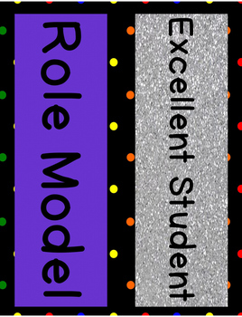 Behavior Clip Chart - Rainbow Polka Dot