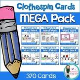 Clothespin Card MEGA Bundle. CVC Words, Digraphs, Sounds + Elkonin Boxes