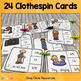 Clothespin Clip Cards - Verb Agreement Be