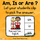 BE : Subject Verb Agreement - 24 Clothespin Clip Cards