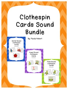 Clothespin Cards Sound Bundle