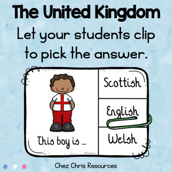 Clothespin Clip Cards - The United Kingdom