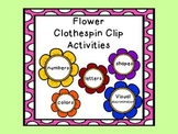 Clothespin Clip Activities
