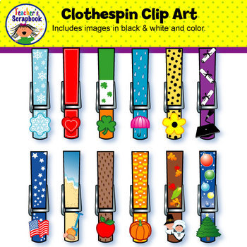 Clothespin Clip Art