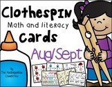 Clothespin Clip Cards - Back to School Edition