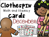 Clothespin Clip Cards - December