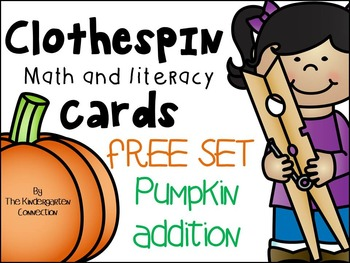 Clothespin Clip Cards - FREE Set Pumpkin Addition