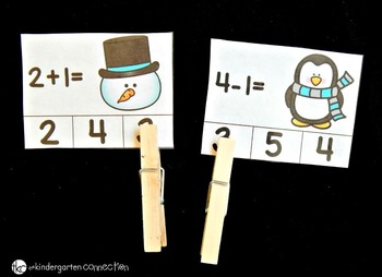 Clothespin Clip Cards - January