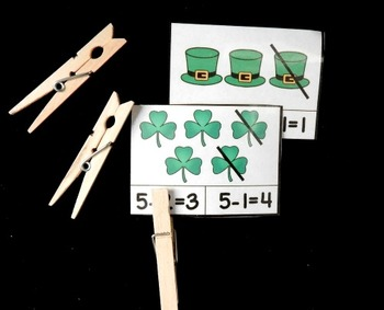 Clothespin Clip Cards - March