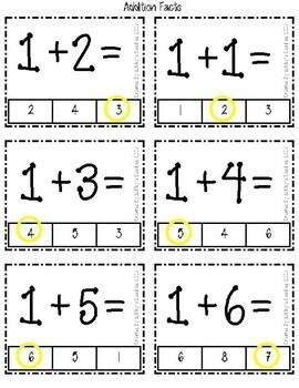 Clothespin Clip Cards- Math Edition