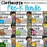 Clothespin Clip Cards - PRE-K BUNDLE