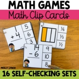 Clothespin Clip Cards for Math