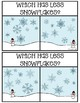 Clothespin Clip Cards for Math-Winter Themed-Snowflakes