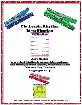 Clothespin Clip Rhythm Identification Set