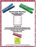 Clothespin Clip Rhythm Identification Set