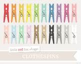 Clothespin Clipart; Laundry, Vintage, Clothing, Clothes, Peg