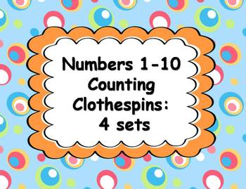 Clothespin Counting Activities 1-10 {4 Sets}