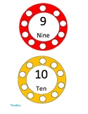 Clothespin / Counting Links Number Task Cards