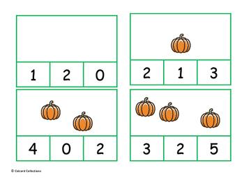 Clothespin Counting Pumpkins