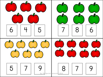 Fall Task Cards: Counting 1-10
