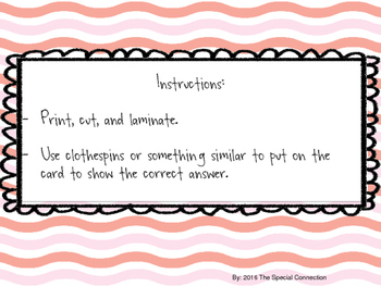 Clothespin Counting Task Cards: Summer Edition Level 1