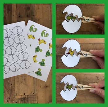 Clothespin Egg Hatchling Craft Activity Game - What animals hatch from an egg?
