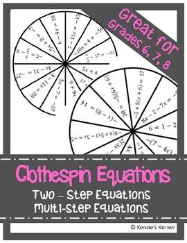 Clothespin Equations