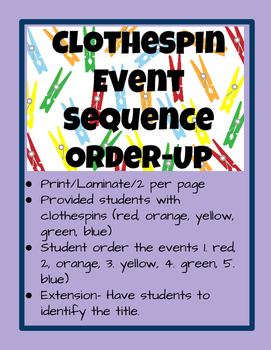 Clothespin Event Sequence