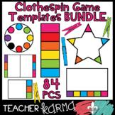 Clothespin Game Templates / 84 Clip Card Graphics