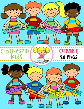 Clothespin Kids Clipart