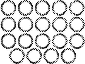 Clothespin Labels - Circle Frames w Dots