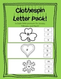 Clothespin Letter Matching