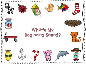 Clothespin Match Game- What's My Beginning Sound?