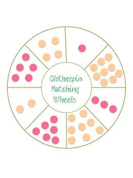 Clothespin Matching Wheels