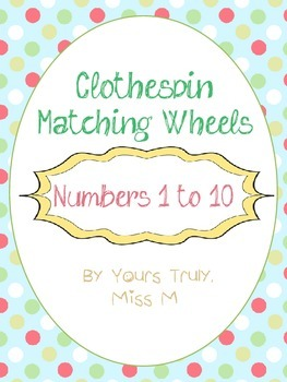 Clothespin Matching Wheels