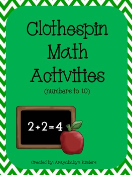 Clothespin Math Activity- Numbers to 10