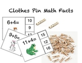 Clothespin Math Facts