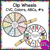 Clothespin Math and Literacy Centers Clip Card Wheels