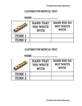 Clothespin Muscle Test