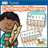 Clothespin Name Activity Editable