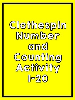Clothespin Number Counting Activity Formative Assessment