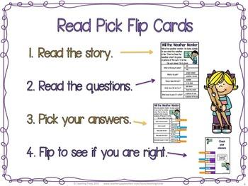 Reading Comprehension Passages: Clip Cards Reading Bundle