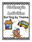 Clothespin Sorting Activities