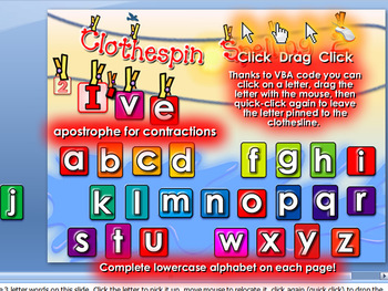 Clothespin Spelling 2 - PowerPoint