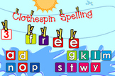 Clothespin Spelling - SMARTBOARD file