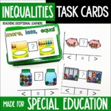More Than, Less Than, Equal To Task Card Set
