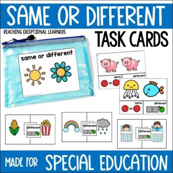 Same or Different Task Card Set