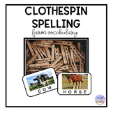 Clothespin Vocabulary: Farm