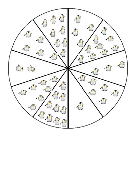 Clothespin numeracy pie chart