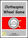 Clothespins Wheel Game
